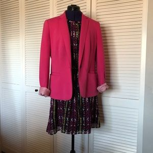 Casual pink jersey blazer